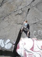 Genita climbing at Quincy